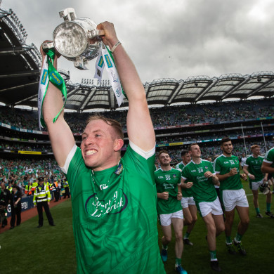 Shane Dowling celebrates Limerick's victory.