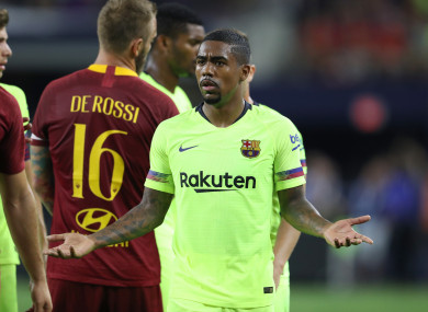 New signing Malcom is in line to feature for Barcelona against Sevilla in the Spanish Super Cup.