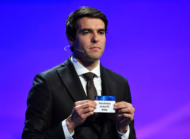 Kaka during this evening's draw in Monaco.