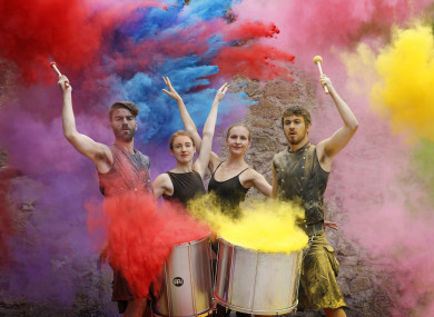 Dance Ireland ballerinas and drummers from The Hit Machine at the Culture Night programme launch earlier this month.