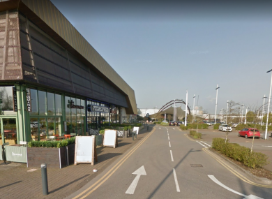 The attack happened near Pizza Express, off Merlin Road in Bristol