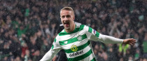Celtic's Leigh Griffiths celebrates scoring his side's first goal.