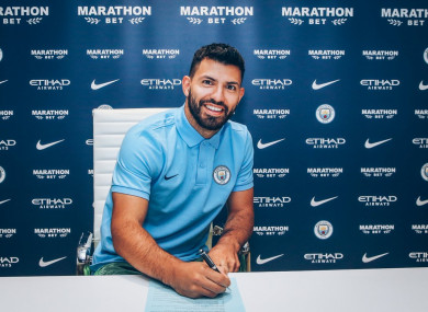 The striker signed for Man City from Atletico Madrid in 2011.