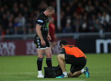 Hogg sustained the injury in the win over Munster.