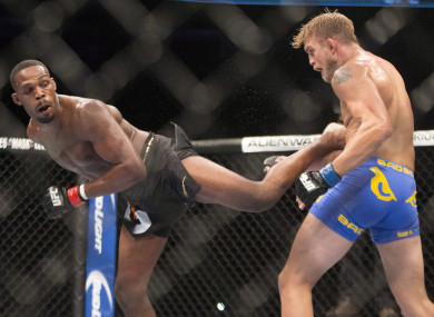 Jon Jones and Alexander Gustafsson shared the Octagon in 2013.