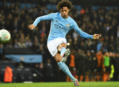 Manchester City star Leroy Sane