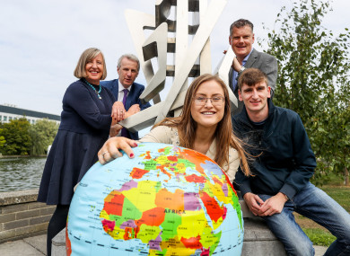 Professor Barbara Dooley, Lead Researcher at UCD; Jerry O'Sullivan, Deputy CEO ESB; Katie Cullen, member of Jigsaw's (Youth Advisory Panel) YAP Galway; Neil Mac Dhonnagain, member of Jigsaw's YAP Dublin city and Dr Joseph Duffy, CEO Jigsaw, at the launch today.