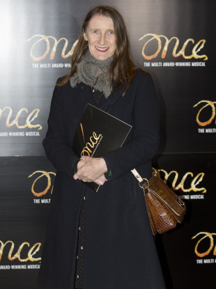 Kiely attending a performance of Once in London.