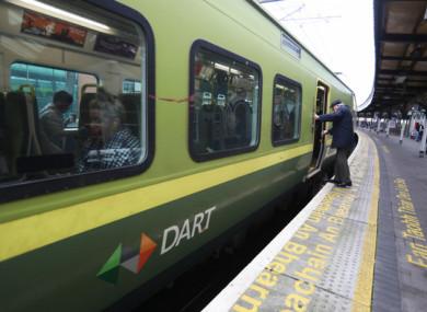 Fule photo of a Dart train
