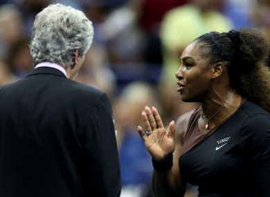 Serena Williams argues with US Open officials