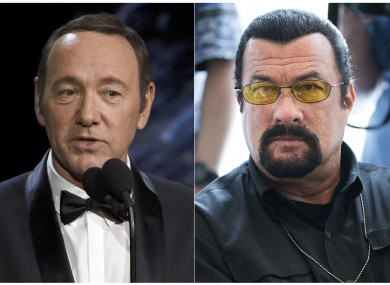 Kevin Spacey (left) and Steven Seagal (right)