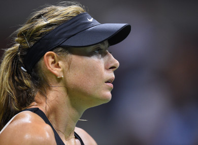Maria Sharapova (RUS) plays her fourth round match at the 2018 US Open.