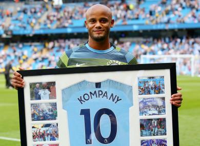 Manchester City captain Vincent Kompany.