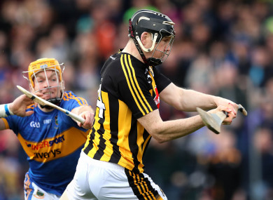 Walter Walsh and Padraic Maher in action in this year's hurling league final.