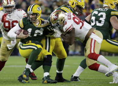 Rodgers: led Packers on match-winning drives late on.