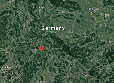 The plane crash landed next to a highway on Wasserkuppe mountain in Germany.