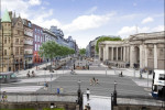 he proposed College Green Plaza looking from Trinity College.