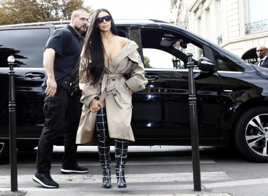 Kim Kardashian and her bodyguard Pascal Duvier seen out and about in Paris before the robbery on October 2, 2016.