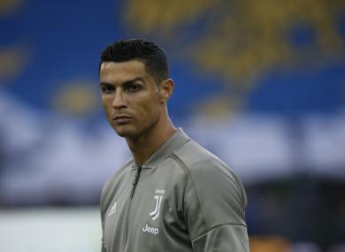 Juventus star Ronaldo.