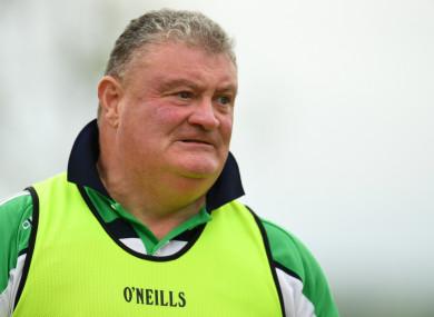 Limerick ladies football manager John Ryan.