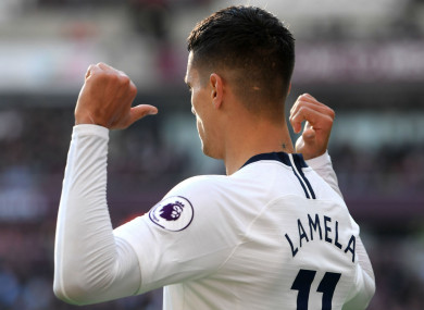 Tottenham midfielder Erik Lamela