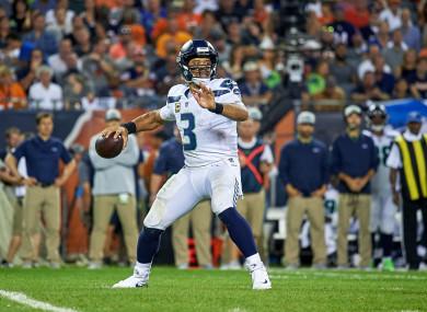 Seattle Seahawks quarterback Russell Wilson (file pic).