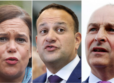 The leaders of the three largest political parties.