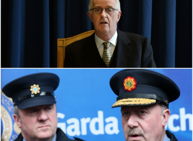 Mr Justice Charleton (top) was sharply critical of Dave Taylor (btm left) and Martin Callinan (btm right).