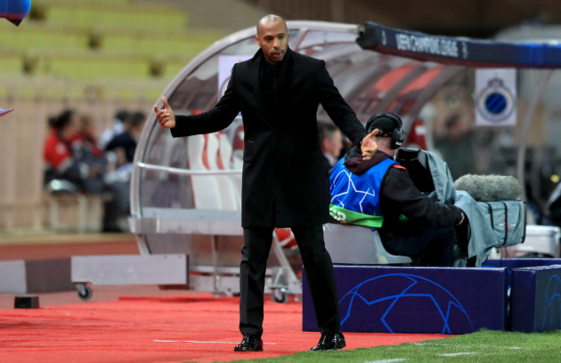 Thierry Henry's Monaco down 3-0 at half-time in Champions League as wait for first win continues