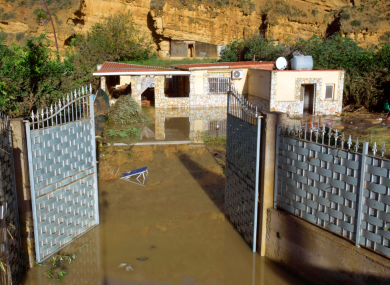 A view of the flooded house where nine people lost their lives in Casteldaccia, near Palermo.