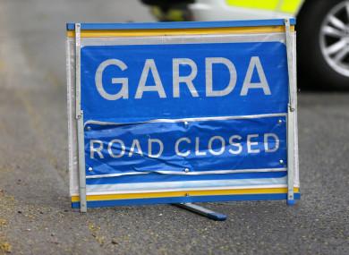 File photo of a road closure.