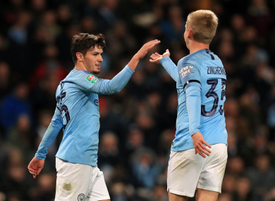 Brahim Diaz, left, grabbed a brace as Pep Guardiola's young guns impressed against Fulham.