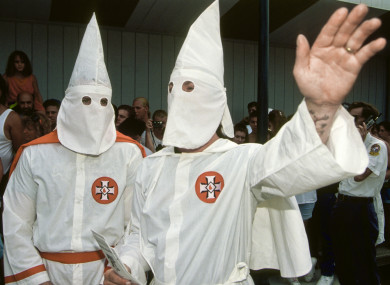 KKK costumes similar to those pictured in Newtownards. (File)