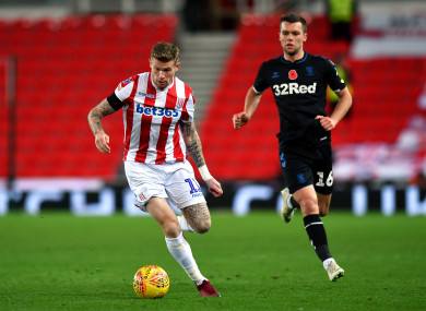 James McClean in action against Middlesbrough