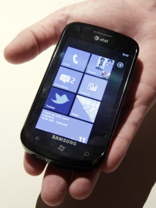 The Windows Phone 7 powered Samsung Focus.