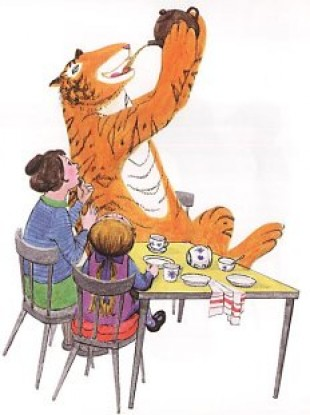 Reproduced from The Tiger Who Came to Tea by Judith Kerr