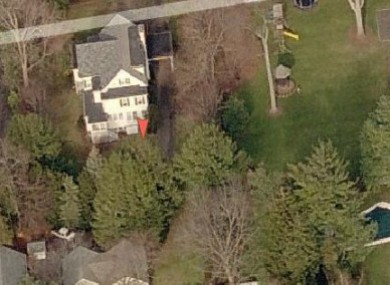 Aerial view of the property at 38 Bush Ave, before the Dunnes began work on the house.