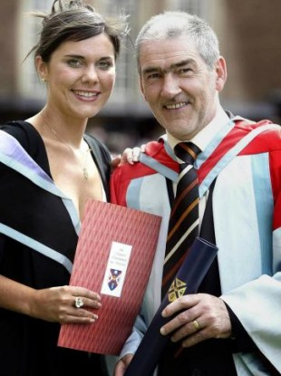 Michaela Harte with her father Mickey Harte.