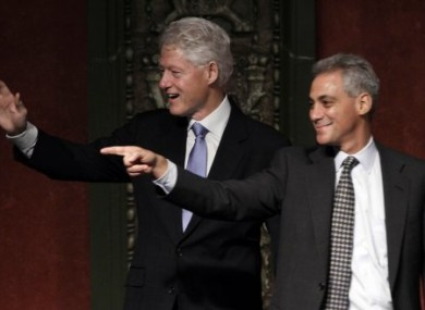 Former President Bill Clinton campaigning with Emanuel last week.