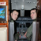 Captain Ed Hollingsworth and Captain Niall Goff prepare for takeoff from Casement Aerodrome, Baldonnel.