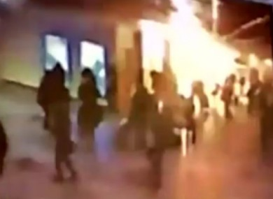A CCTV still capturing the moment of the explosion at Domodedovo airport last month.