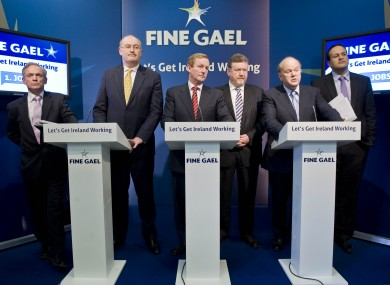 Enda Kenny will be leaving one of three podiums empty this evening when he attends an event in Leitrim, while Eamon Gilmore and Micheál Martin appear on a TV debate.