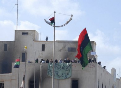 Image reportedly showing protesters in Libya.