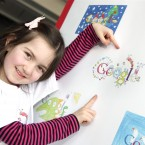 Google'€™s champion doodler Layla Karpuz with her winning entry. Pic:Marc O'Sullivan