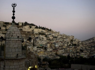 The view of the east Jerusalem neighborhood of Ras-Al Amud.