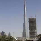 The world's tallest tower has over 160 inhabitable floors - and Alain Robert is climbing it by hand in seven hours.