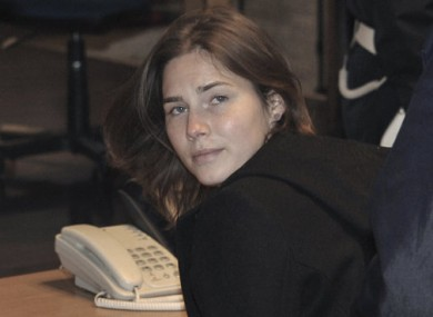 Amanda Knox arrives in court in Perugia, central Italy, as her appeals murder trial resumes in Italy following a two-month break.
