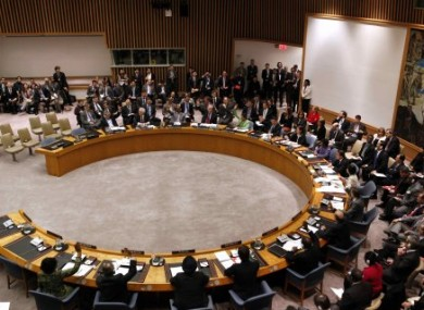 The UN Council votes on whether to approve a no-fly zone over Libya