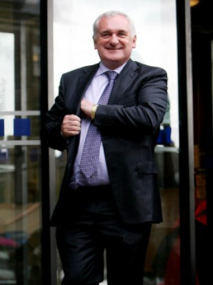Cash only: Bertie Ahern is NOT one of those Irish people who has said they have kept a bank account secret from their partner. In fact, he claims he had no bank account at all until December 1993.