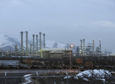 Iran's heavy water nuclear facilities near the central city of Arak.